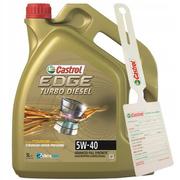 Olej Castrol Edge Turbo Diesel Titanium FST 5W40 5L + zawieszka