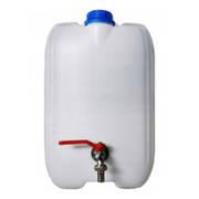 Pojemnik plastikowy na wodę z metalowym kranem  - 20  L