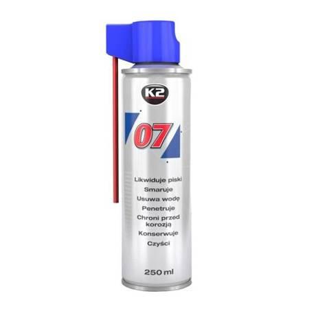 K2 07 smar odrdzewiacz w sprayu wielozadaniowy penetrant 250ml