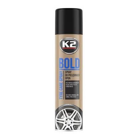 K2 Bold spray mokra opona - pielęgnuje i nabłyszcza opony 600ml