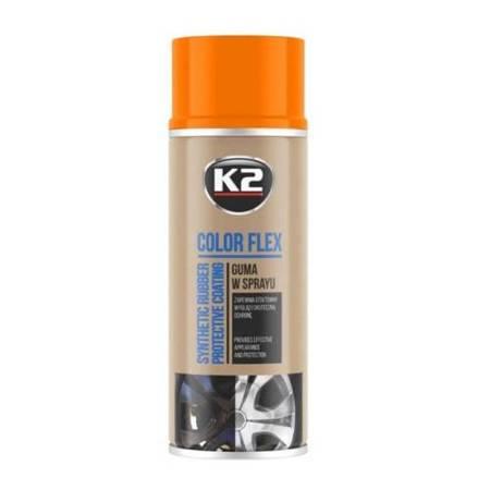 K2 Pro Color Flex guma w sprayu - kolor pomarańczowy 400ml