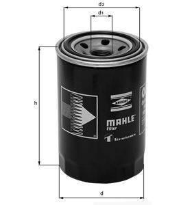 Knecht filtr oleju OC215 - Daihatsu Charade G10/11/100 87->