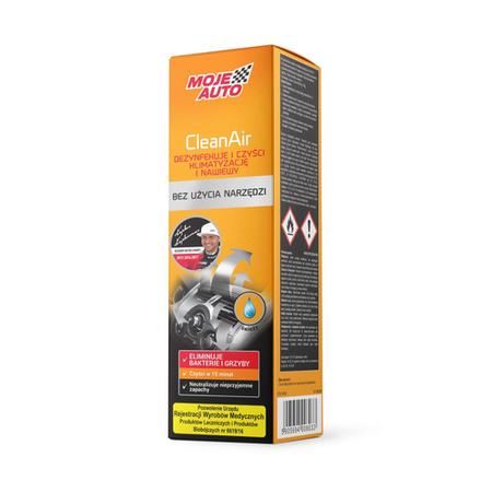 Moje Auto CleanAir odświeżacz klimatyzacji i nawiewów 150ml - Świeży