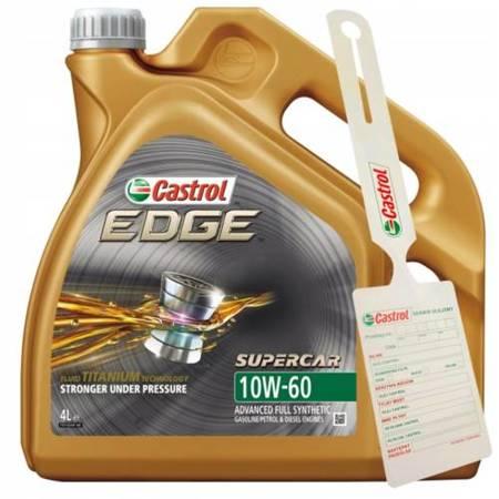 Olej Castrol Edge Titanium SUPERCAR 10W60 4L + zawieszka