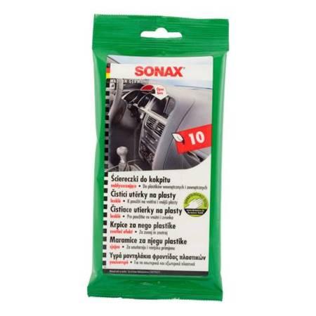 Sonax ściereczki do pielęgnacji kokpitu - opakowanie 10 sztuk