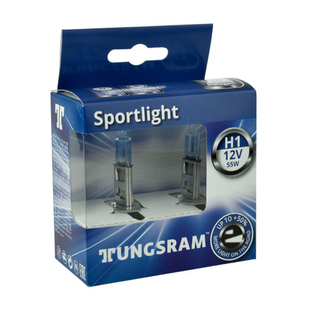 Żarówka samochodowa H1 Tungsram SportLight Bluish +50% - 2szt